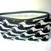 Dachshund Dog id1340571 zippered pouch, wallet zip purse, lined and padded gadget case, coin purse, zipper purse, cosmetic bag, toiletry