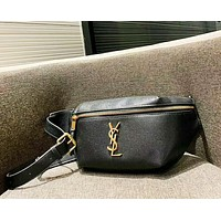 YSL New fashion leather shoulder bag clutch bag women Black
