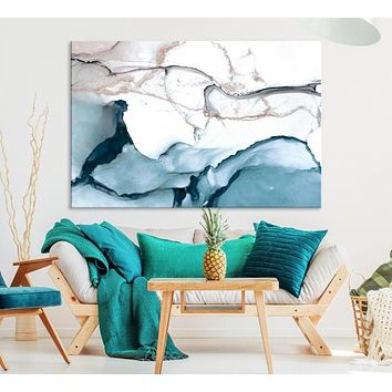 Large Abstract Wall Art Marble Canvas Print