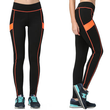 Women's Fashion High Waist Stretch Cotton Sweatpants Jogging Wearing Ladies Yoga Pants Gym Sports And Fitness Candy Color Capris Leggings = 4747033924