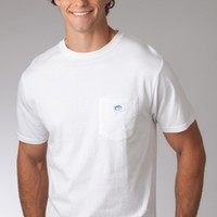 SHORT SLEEVE T-SHIRT - EMBROIDERED POCKET - WHITE SOUTHERN TIDE