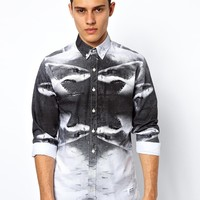 A Question Of | A Question Of Shirt With Shark Print at ASOS