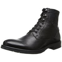 GBX Mens Brick Leather Round Toe Ankle Boots