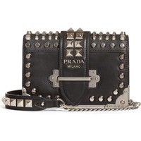Prada Cahier Studded Leather Crossbody Bag | Nordstrom