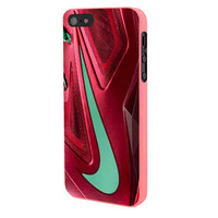 Nike Red Maroon Turquoise Logo iPhone 5 Case Framed Pink