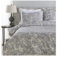 Clara Floral Grey Duvet Bedding