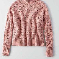 AEO Ahhhmazingly Soft Mock Neck Sweater, Lively Lilac