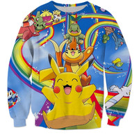 Exclusive Pokemon Pikachu In Wonderland Hoodie / Tee