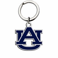 Auburn Tigers Large Size Stainless Steel Key Ring With Color