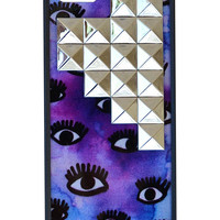 Eye On Purp Silver Studded Pyramid iPhone 5/5s Case