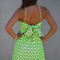 HOPE'S: Electric Static Dress: Neon Yellow | Hope's