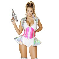 Space Alien Buster Collared Romper Costume