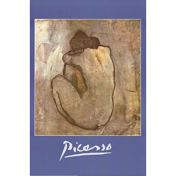 Pablo Picasso Blue Nude Art Poster 24x36