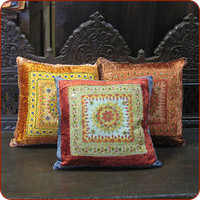 Moroccan and Indian pillows, Moroccan textiles, India textiles, and more.