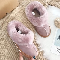 UGG fashion hot seller of women's casual uggs, sheep's fur all-in-one low-top ankle boots Shoes #3