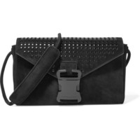 Christopher Kane - Devine studded suede clutch