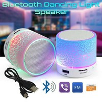 Portable Mini Bluetooth 3W Speaker Stereo New Bose Sound Box LED MP3 Player Bass