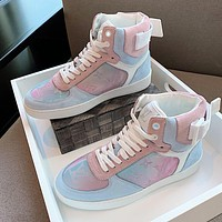 Louis Vuitton LV Newest Fashion Women Casual High Help Sneakers Sport Shoes