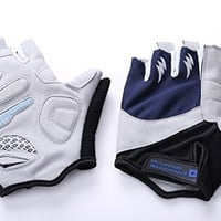 U&X Cycling Gloves Bike Bicycle Half Finger and Anti-slip Gloves for Mens &Womens Hiking Riding Sports Apparel (Size: XL) = 1714382340