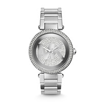 Michael Kors Parker Pave Stainless Steel Ladies Watch with MK Dial