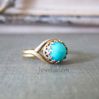 Turquoise Ring Gold Turquoise Ring Silver Turquoise Ring Gift Small Turquoise Ring Modern Ring Adjustable Ring
