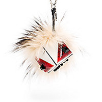Fendi - Fox Fur & Leather Prism Bag Bug - Saks Fifth Avenue Mobile