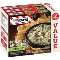 TGI Fridays Spinach & Artichoke Cheese Dip, 8 oz, 3 count - Walmart.com
