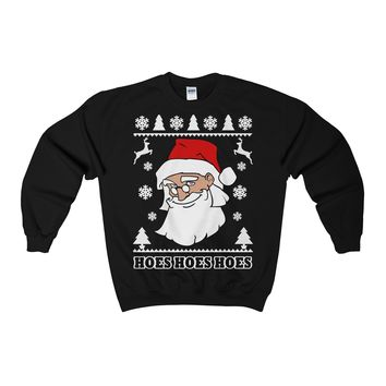 Santa Claus I Got Hoes Hoes Hoes Ugly Christmas Sweater Sweatshirt