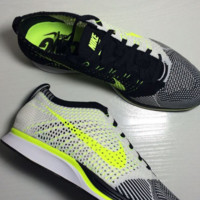 NIKE Women Men Running Sport Casual Suspension movement Shoes Sneakers Yellow