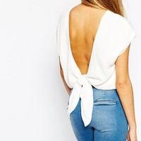 Mango Knotted Back Top