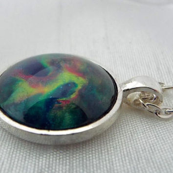 Deep Space Multi-color  Pendant Necklace     FREE SHIPPING