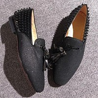 Christian Louboutin CL Loafer Style #2355 Sneakers Fashion Shoes Online