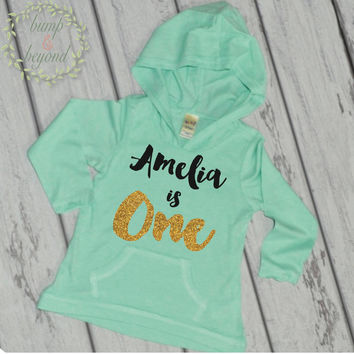 First Birthday Outfit Girl 1st Birthday Shirt Girl 1 Year Old Birthday Shirt Girl One Year Old Birthday Girl Hoodie 1st Birthday Outfit 091