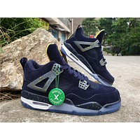 Air Jordan 4 Retro AJ4 Navy Men's Sneaker US7-13