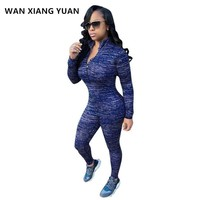 WAN XIANG YUAN Two Piece Set 2017 Winter Women Sportswear 2 Piece Outfit Sets Sweat Suits Pants Women Tracksuits 1205