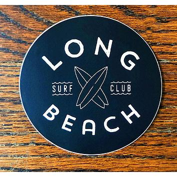 Long Beach Surf Club - All weather vinyl sticker