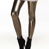 Metallic Color Shiny Metal Leggings