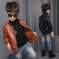 New Baby Boy  Leather Jacket Black and Brown Color