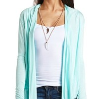LACE BACK OPEN CARDIGAN