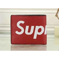 LOUIS VUITTON NEW SUPREME RED WALLET LEATHER WALLET N