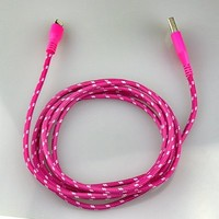 10ft Braided Durable 8 Pin USB Data Sync Charger Cord Cable for iPhone 5 5s (hot pink)