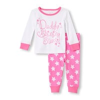 Long Sleeve Daddy's Shining Star Top and Pants 2-Piece PJ Set | The Children's Place