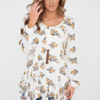 Avery Floral Tunic - Ivory/Multi