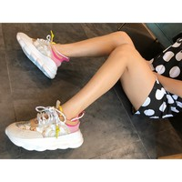 DCCK 1678 Versace Hollow Breathable TPR Outsole White Pink