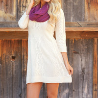 Meeting The Parents Sweater Dress - Oatmeal