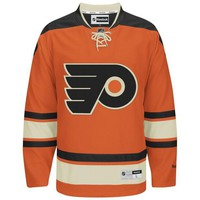 CHEN1ER Philadelphia Flyers Reebok Premier Replica Alternate NHL Hockey Jersey