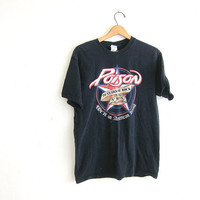 black 20 years of Rock and Ruin tshirt / Poison Tour tshirt / washed out / faded black cotton