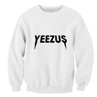 yeezus sweater White Sweatshirt Crewneck Men or Women for Unisex Size with variant colour