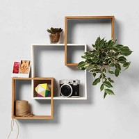 Bamboo Step Wall Shelf