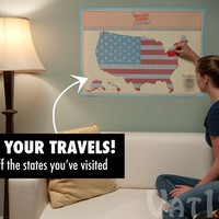 USA Scratch Map: Track your travels with the large scratch-off map.